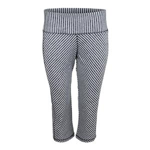 Women`s Packable Tennis Capri Carbon Diagonal Stripe