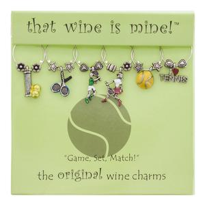 Tennis Wine Glass Charms