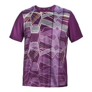 Men`s Waves Match Tennis Crew Eggplant