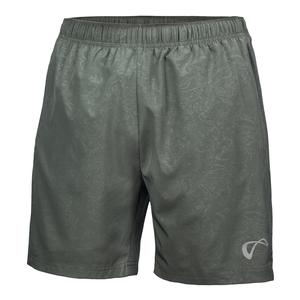 Men`s Brushed Emboss Woven Tennis Short Smoked Pearl