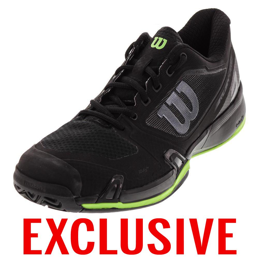 Men's Rush Pro 2.5 Tennis Shoe Black And Blade Green