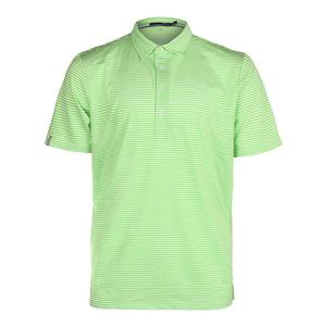 Men`s Feed Stripe Airflow Polo Ranger Lime and Pure White