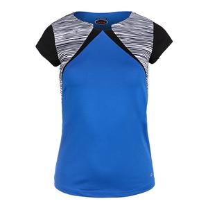 Women`s Picasso Cap Sleeve Tennis Top Royal