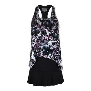 Women`s Tennis Dress Black and Print