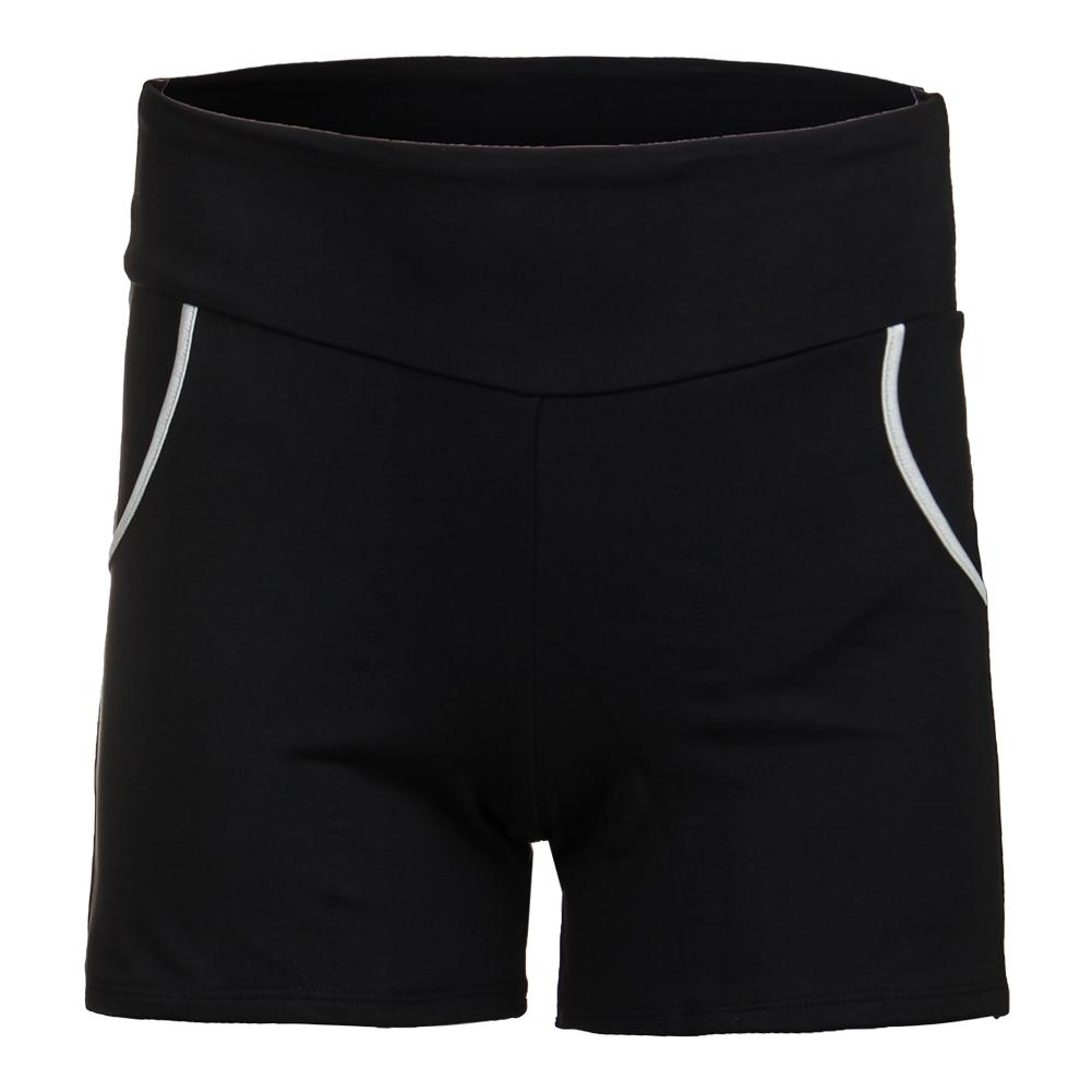 Women's Compression Tennis Short Black