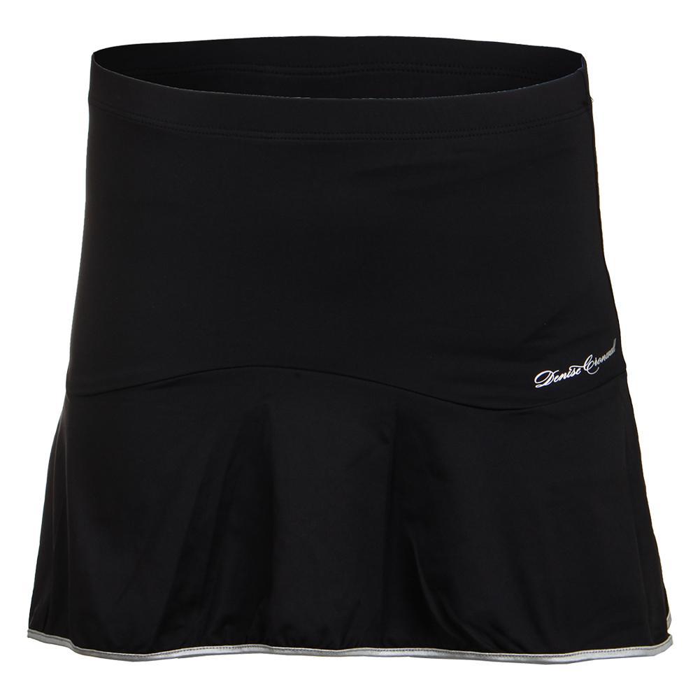 Women's Solid Tennis Skort Black