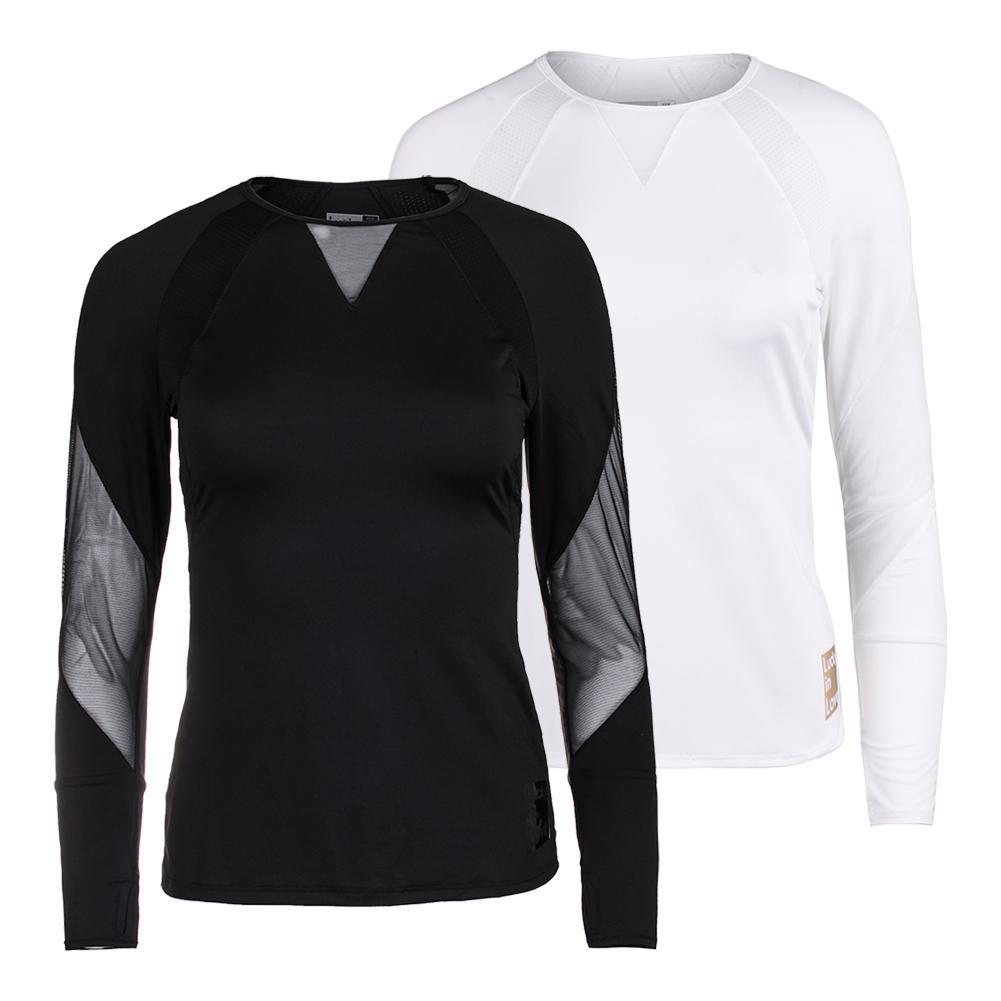Women's Logo Athletic Long Sleeve Tennis Top