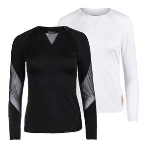 Women`s Logo Athletic Long Sleeve Tennis Top