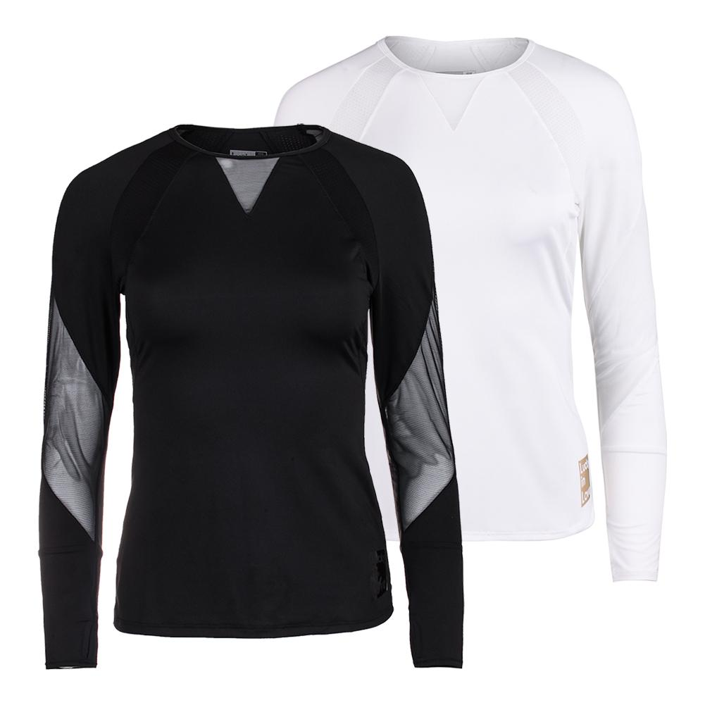 Lucky in Love Women's Logo Athletic Long Sleeve Tennis Top