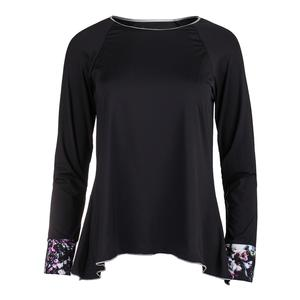 Women`s Long Sleeve Tennis Top Black