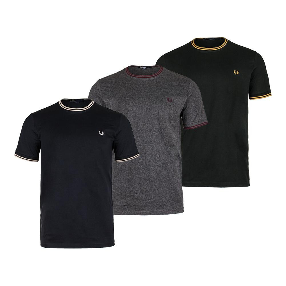 c46ff8d5c FRED PERRY FRED PERRY Men's Twin Tipped Ringer Tennis Top