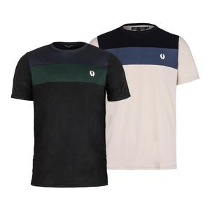 Men`s Color Block Panel Tennis Top