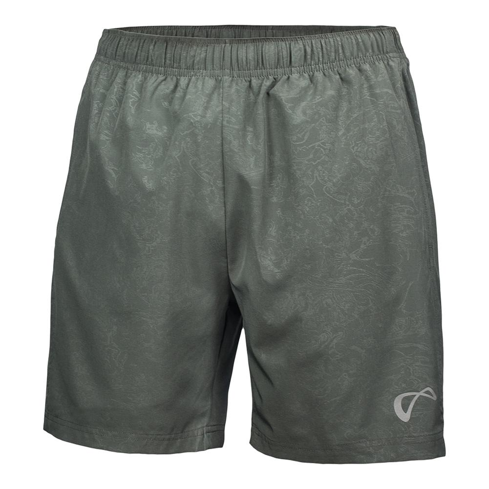 Boys ` Brushed Emboss Woven Tennis Short Smoked Pearl