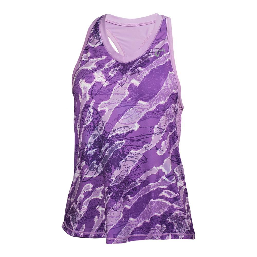 Girls ` Botanic Racerback Tennis Tank Lilac