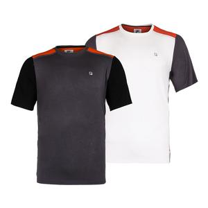 Men`s Court Deco Crew Neck Tennis Top