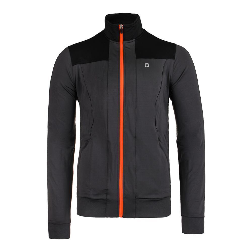 Men's Court Deco Tennis Jacket Nine Iron And Black