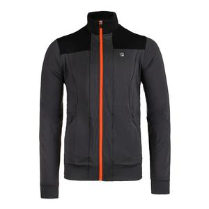 Men`s Court Deco Tennis Jacket Nine Iron and Black