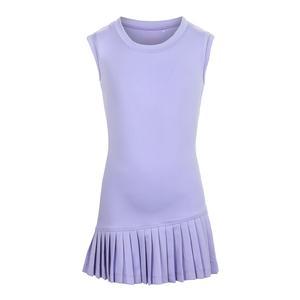 Girls` Asymmetrical Pleated Tennis Dress Purple
