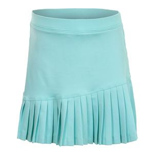 Girls` Asymmetrical Tennis Skort Turquoise