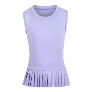Girls` Peplum Pleated Tennis Tank Purple