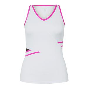 Women`s Salinas V-Neck Tennis Tank White