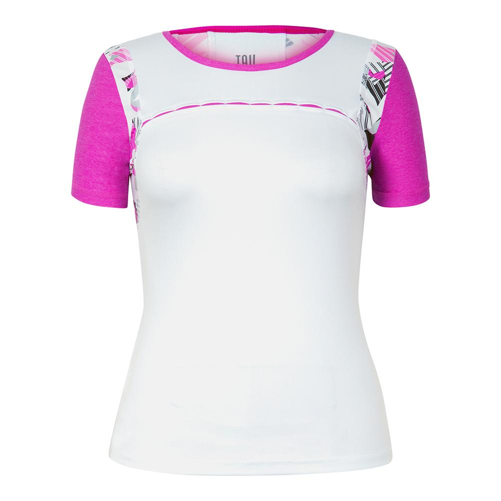 Women's Brenda Short Sleeve Tennis Top White