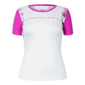 Women`s Brenda Short Sleeve Tennis Top White
