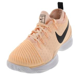 Women`s Air Zoom Ultra React Tennis Shoes Crimson Tint and Black