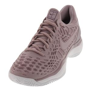 Women`s Zoom Cage 3 Tennis Shoes Elemental Rose and White