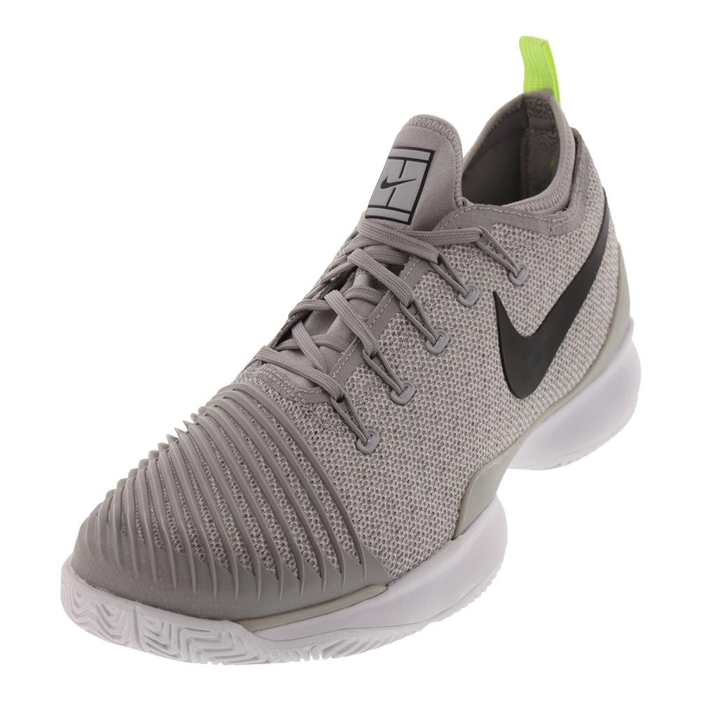 Men's Air Zoom Ultra React Tennis Shoes Atmosphere Gray And Black