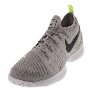 Men`s Air Zoom Ultra React Tennis Shoes Atmosphere Gray and Black