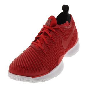 Men`s Air Zoom Ultra React Tennis Shoes University Red and White