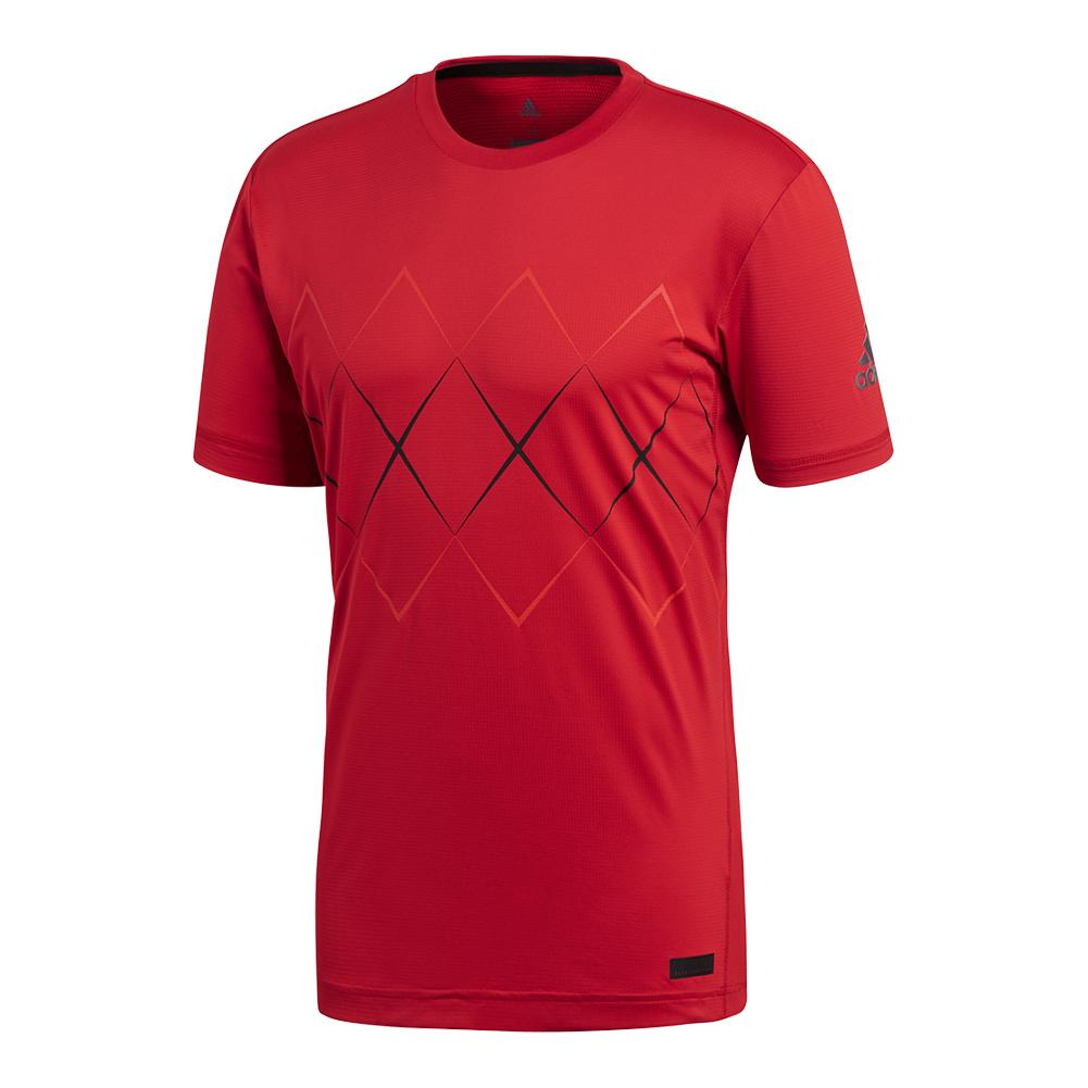 Men's Barricade Tennis Tee Scarlet