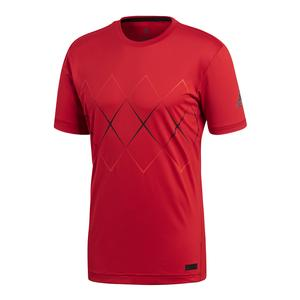 Men`s Barricade Tennis Tee Scarlet