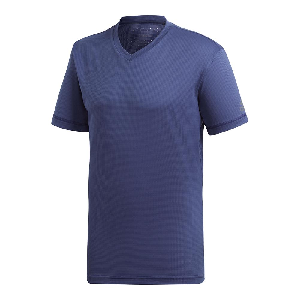 Men's Climachill V- Neck Tennis Tee Noble Indigo