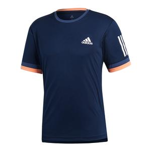 Men`s Club 3 Stripes Tennis Tee Collegiate Navy
