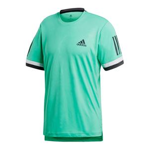 Men`s Club 3 Stripes Tennis Tee Hi-Res Green
