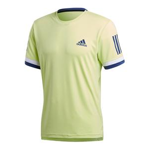 Men`s Club 3 Stripes Tennis Tee Semi Frozen Yellow