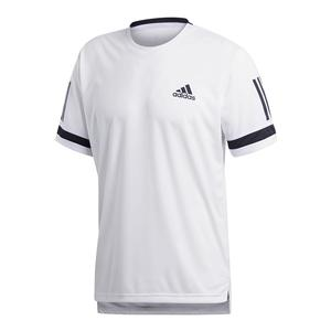 Men`s Club 3 Stripes Tennis Tee White