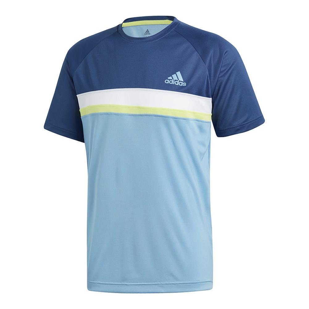 Men's Club Color Block Tennis Tee Ash Blue