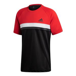 Men`s Club Color Block Tennis Tee Scarlet