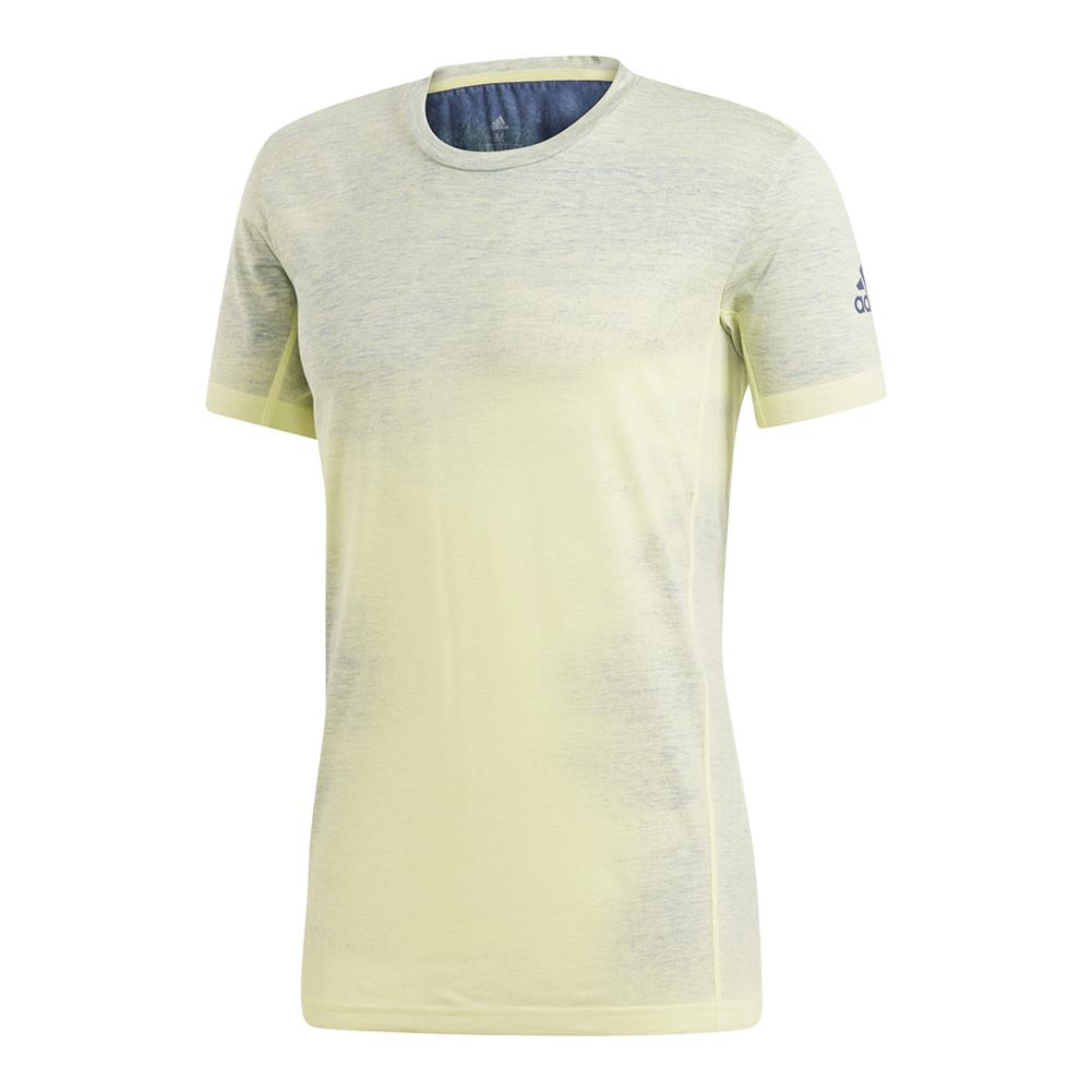 Men's Melbourne Printed Tennis Tee Semi Frozen Yellow