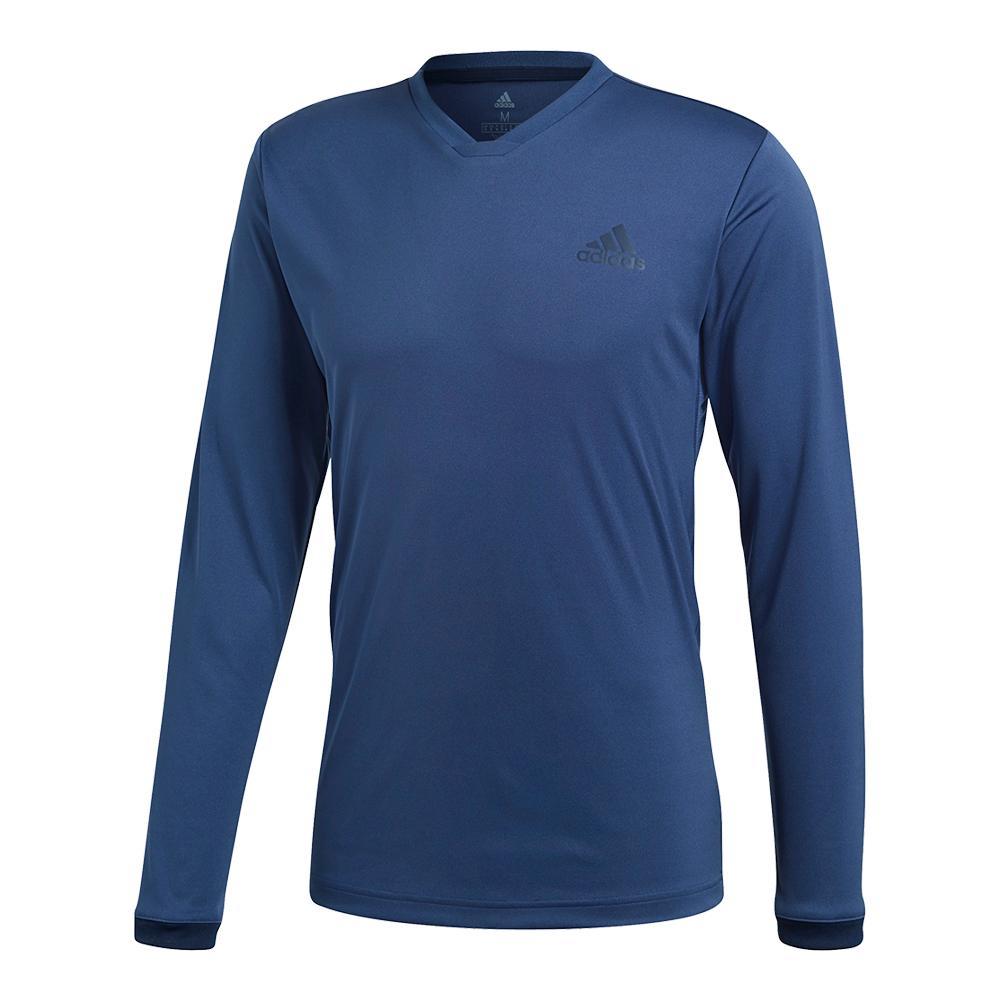 Men's Club Long Sleeve Uv Protection Tennis Tee Noble Indigo