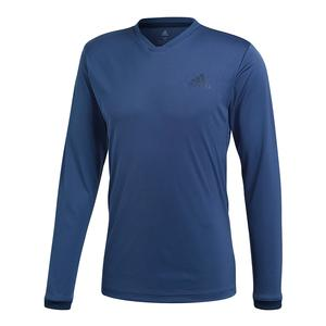 Men`s Club Long Sleeve UV Protection Tennis Tee Noble Indigo