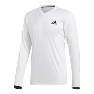 Men`s Club Long Sleeve UV Protection Tennis Tee White
