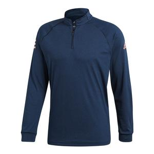 Men`s Club Mid-Layer Tennis Shirt Collegiate Navy