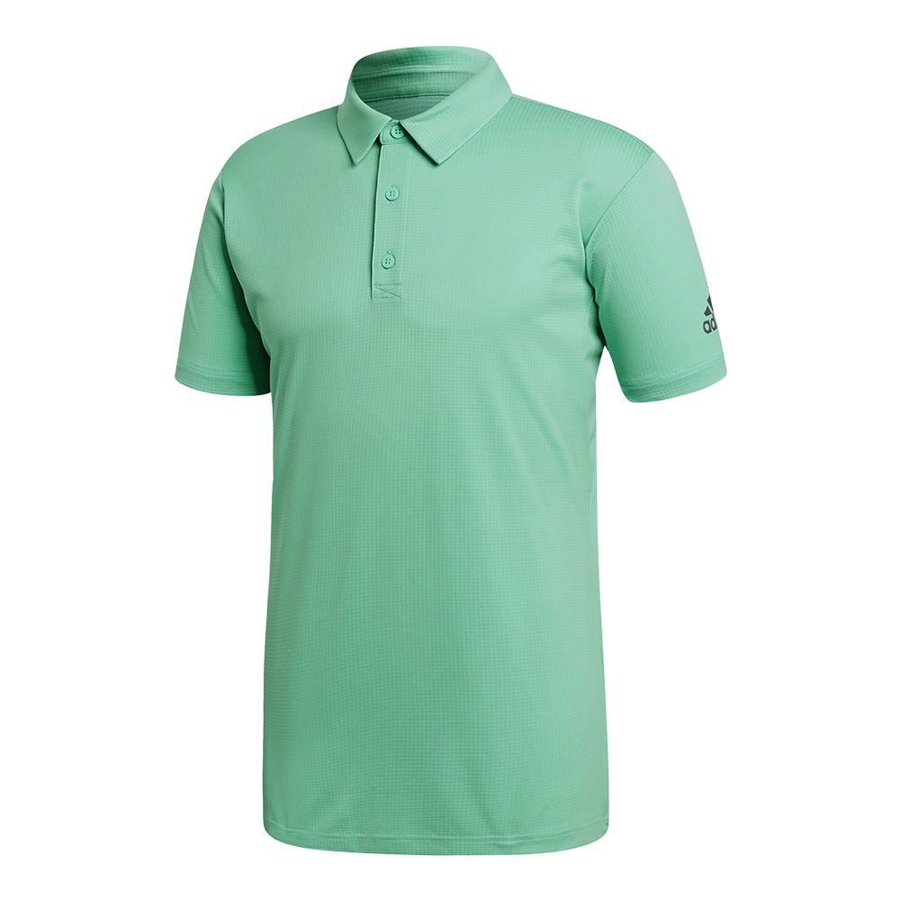 Men's Climachill Tennis Polo Hi- Res Green