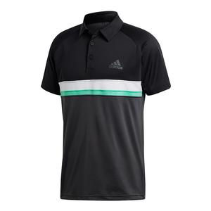 Men`s Club Color Block Tennis Polo Black and DGH Solid Gray