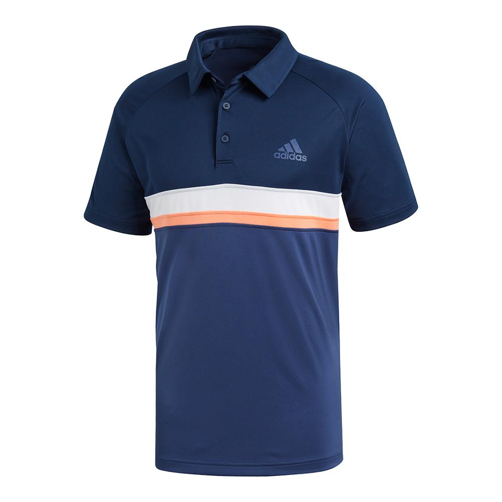 Men's Club Color Block Tennis Polo Collegiate Navy