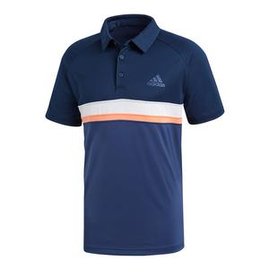 Men`s Club Color Block Tennis Polo Collegiate Navy